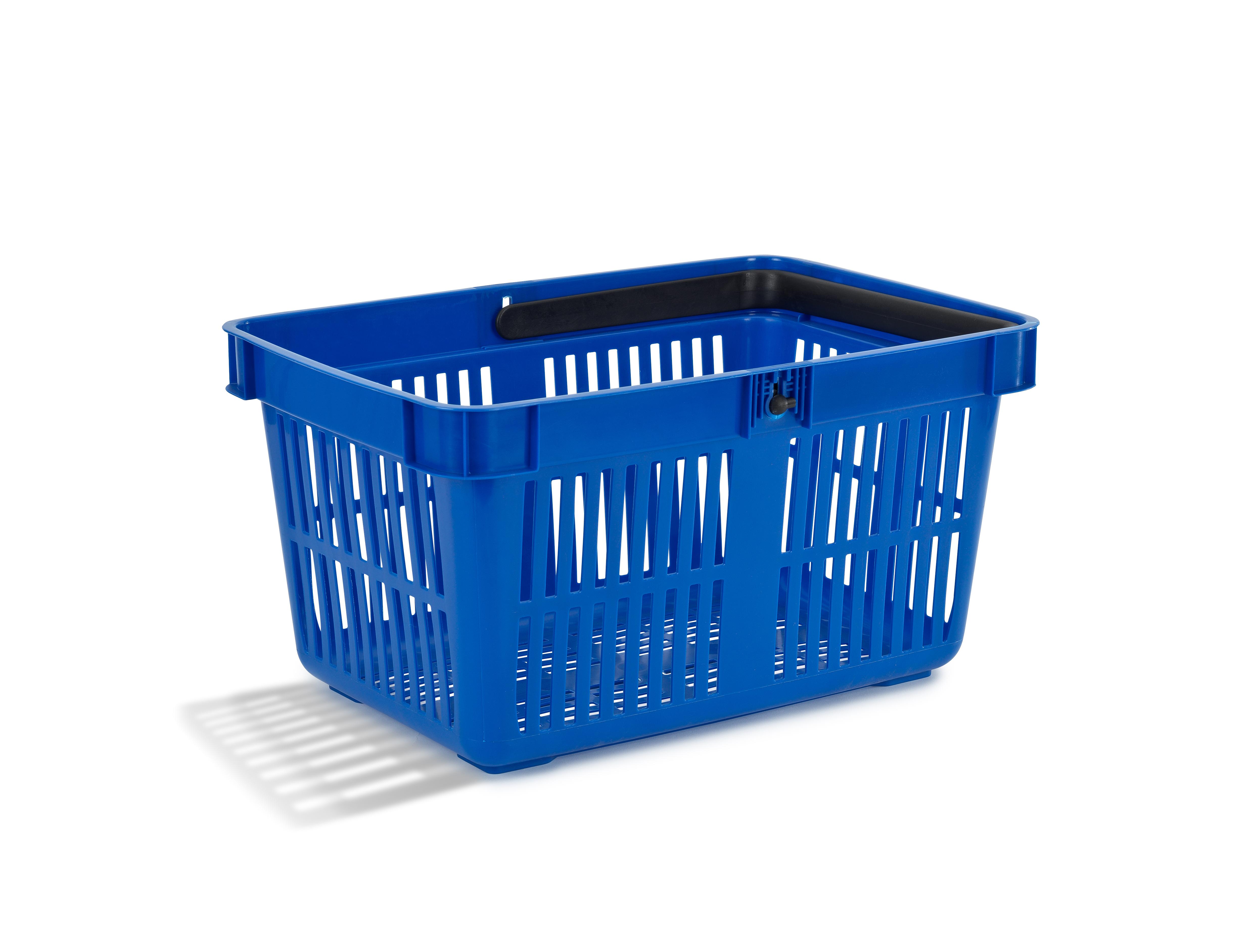Nordiska Plast Handlekurv 27 liter blå