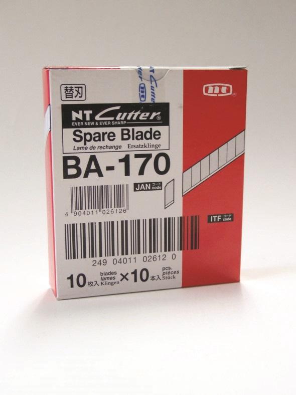 NT-Cutter Reserve blader 9mm BA-170 10 stk i pakken