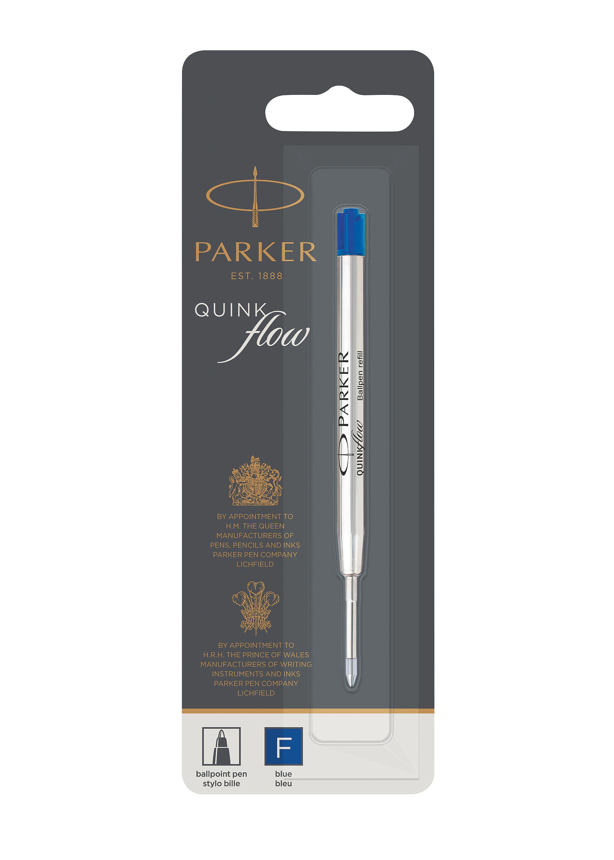 Parker ballpoint pen refill Quinkflow F blue blist