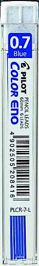 Pilot Reservestift til blyant Color ENO 0,7 HB blå (6)