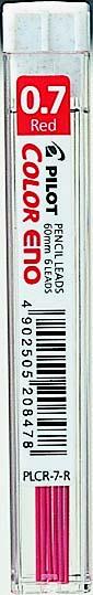 Pilot Reservestift til blyant Color ENO 0,7 HB rød (6)