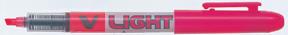 Pilot Overstrykningspenn V-Liquid vinklet spiss rosa