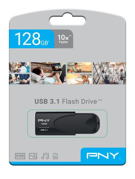 PNY USB 3.1 Attache 4 128GB Minnepenn Sort
