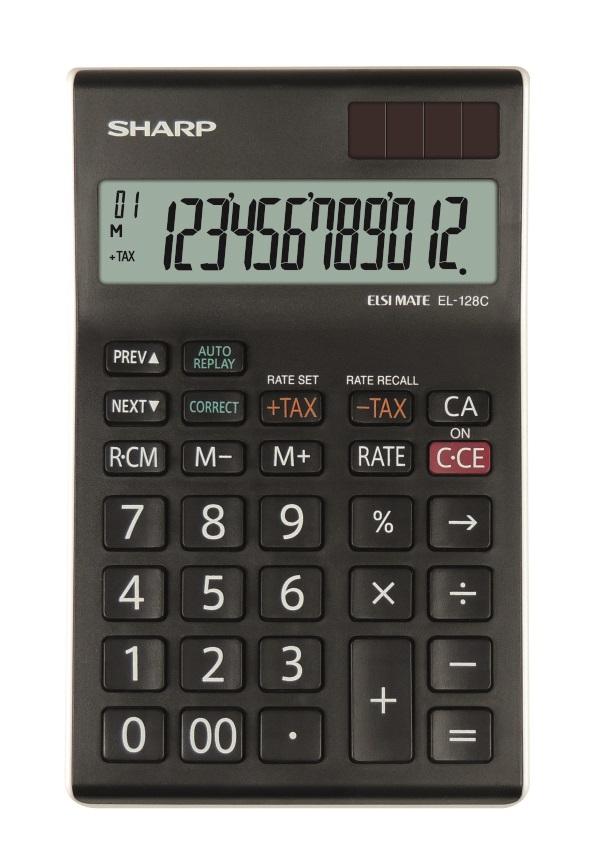 Desk Calculator SHARP EL-128CWH