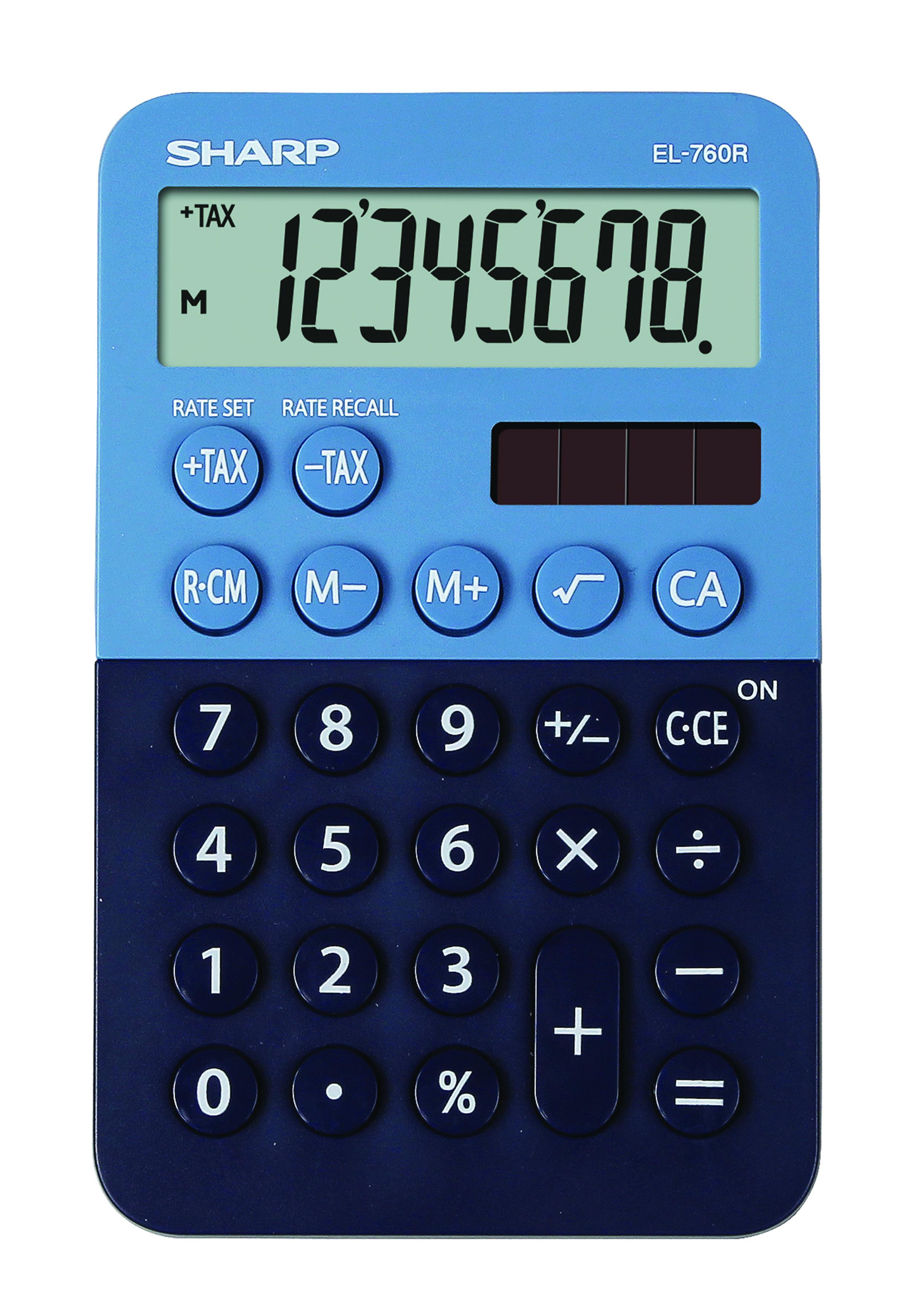 Desk Calculator SHARP EL-760R dark blue-light blue