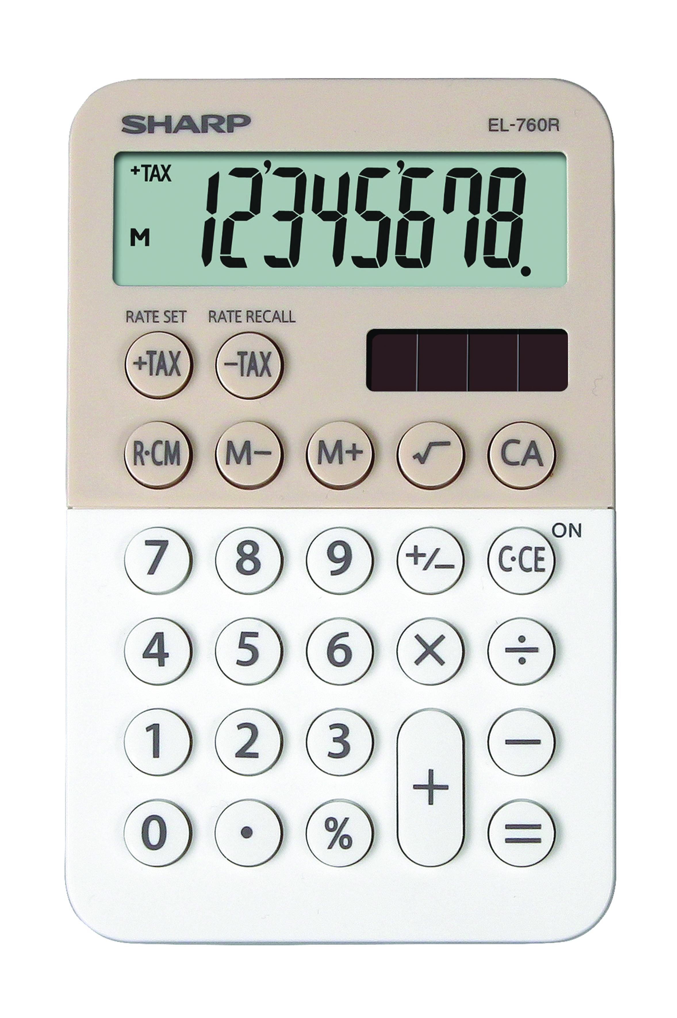Desk Calculator SHARP EL-760R white-cappuccino