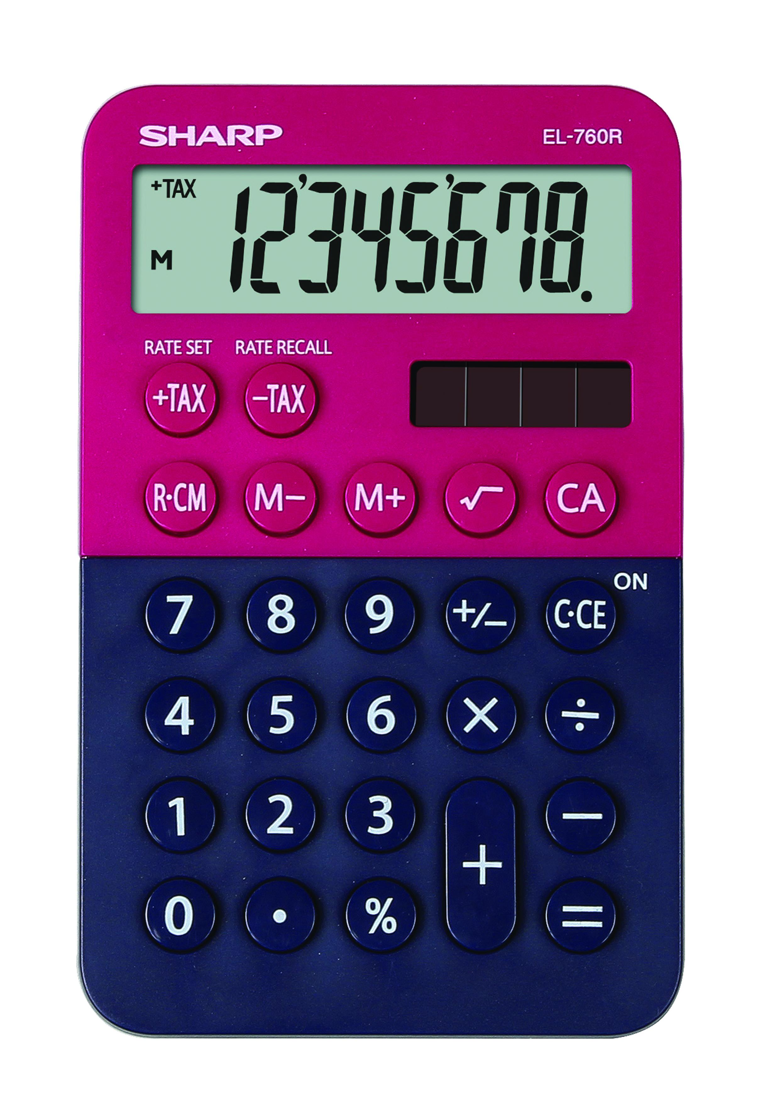 Desk Calculator SHARP EL-760R dark blue-red
