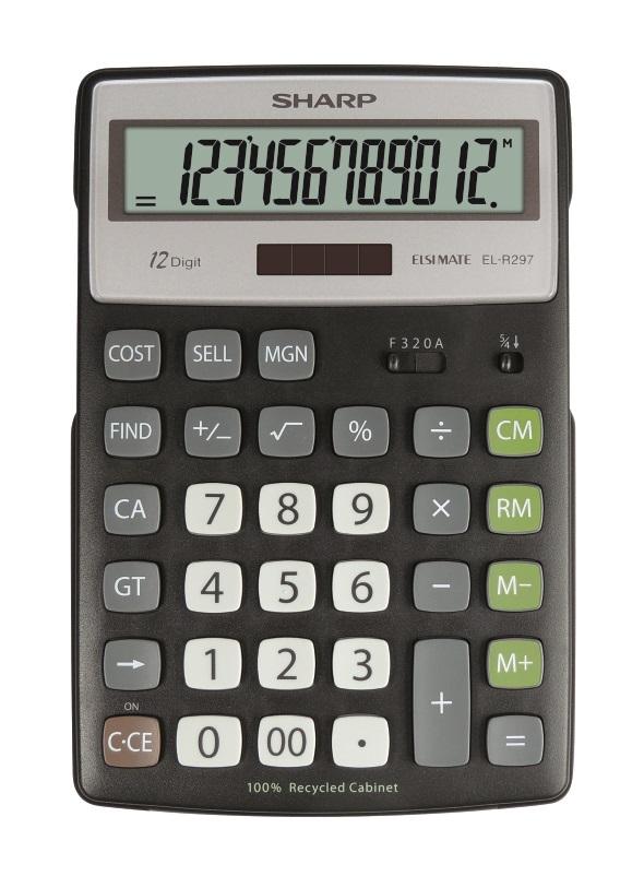Sharp ECO desk calculator EL-R297BBK