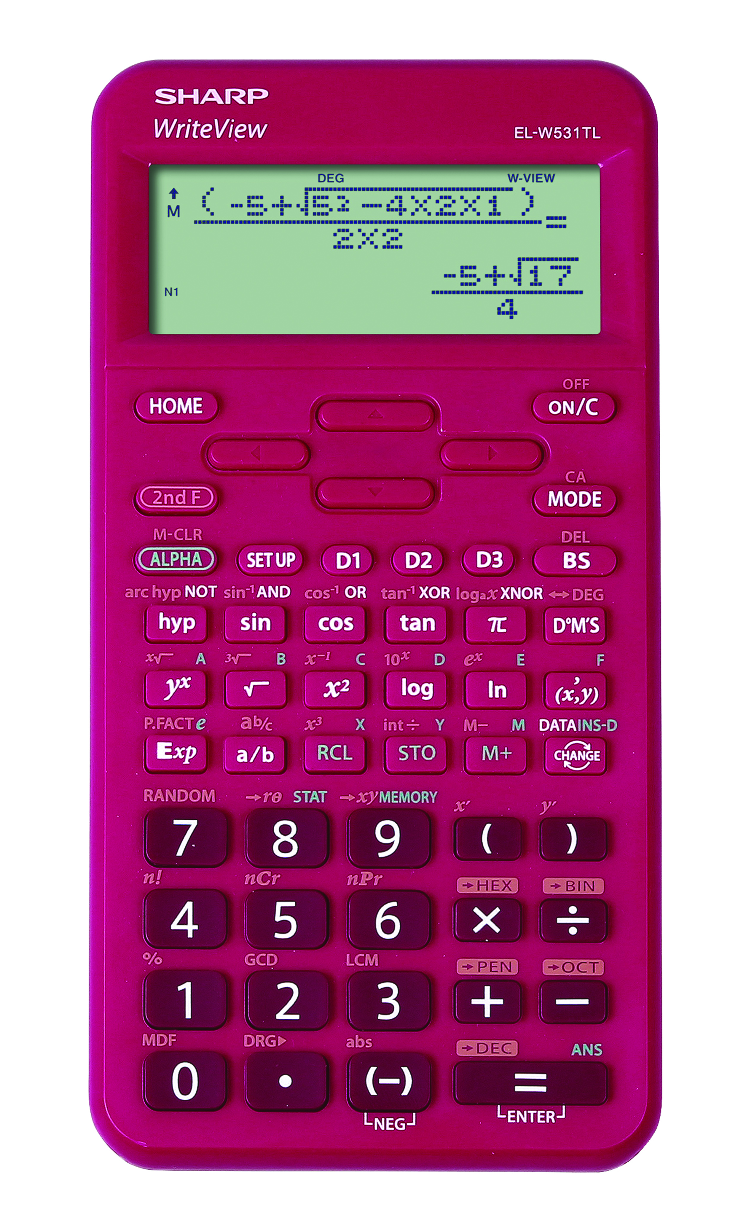 Sharp scientific calculator EL-W531TL pink