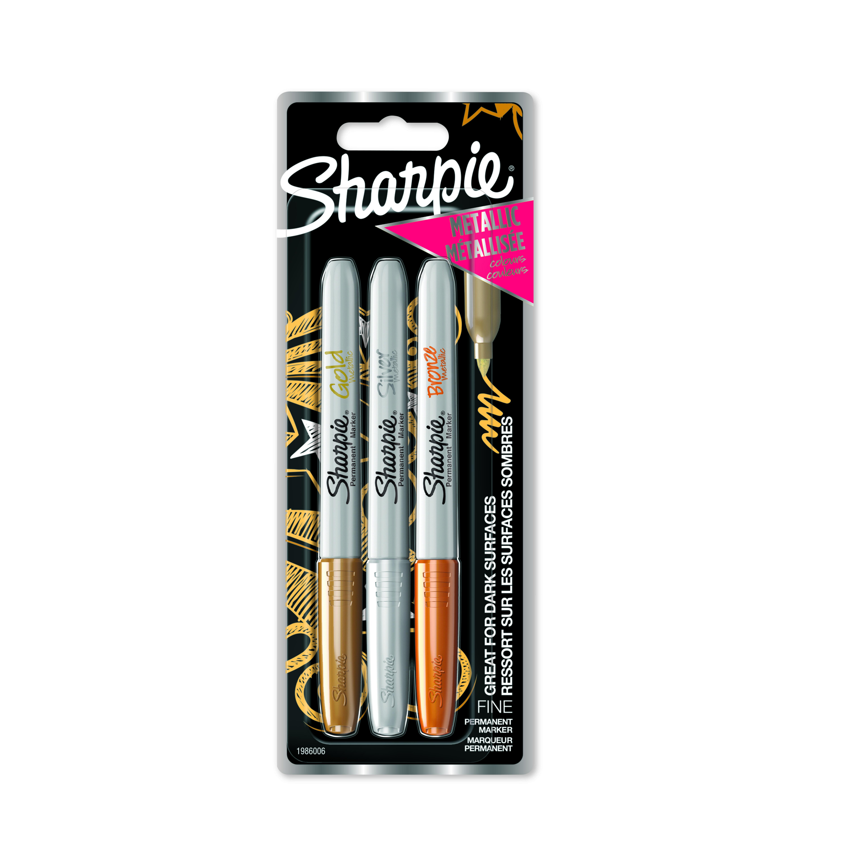 Marker Sharpie Metallic 1,4mm ass Gull/Sølv/Bronse (3)