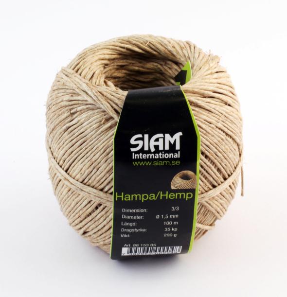 SIAM Hamptråd T3/3 Ø1,6mm 90m