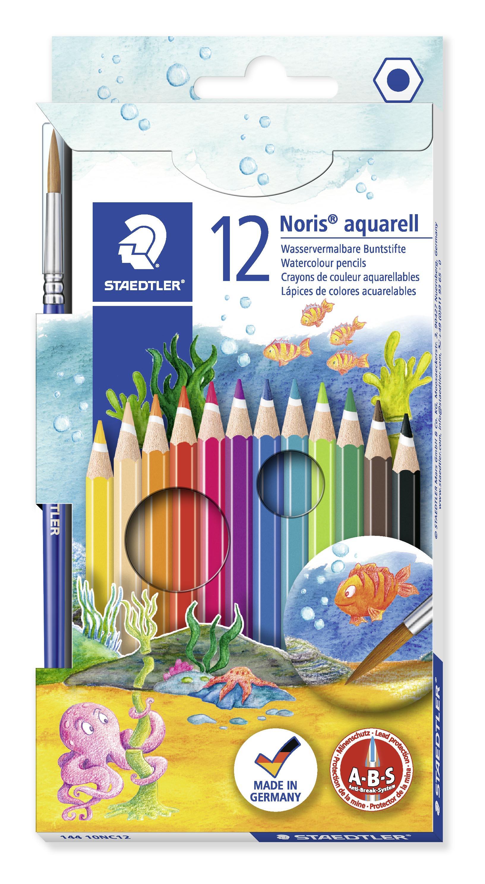 STAEDTLER Fargeblyanter Noris Club Akvarell assortert (12)