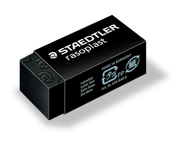 STAEDTLER Viskelær Rasoplast 33x16x13mm sort