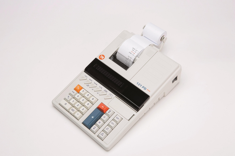 TA Bordkalkulator m/print 121PD Eco Hvit