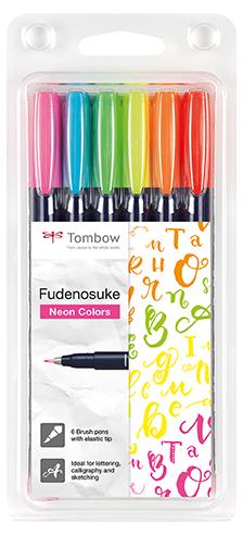Kalligrafipenn Fudenosuke hard neon ass (6)