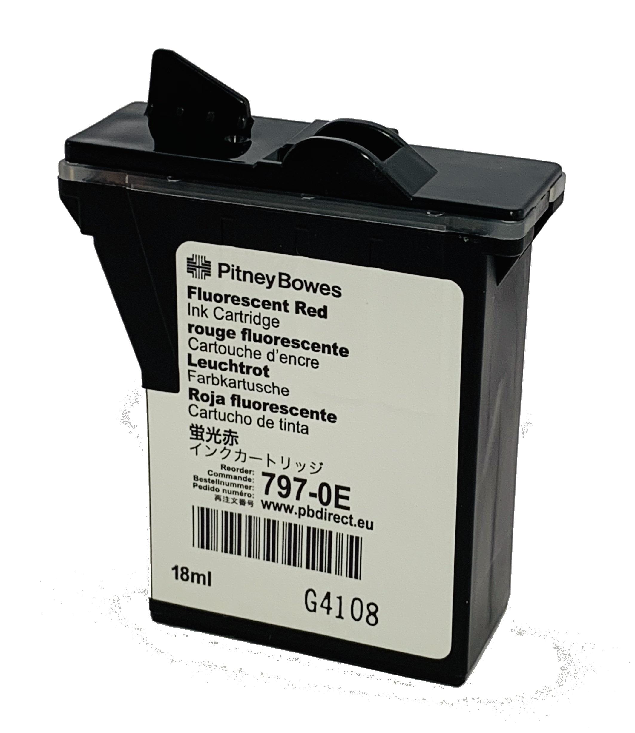 Totalpost/Pitney Bowes DM50, DM55, K700 rødt blekk