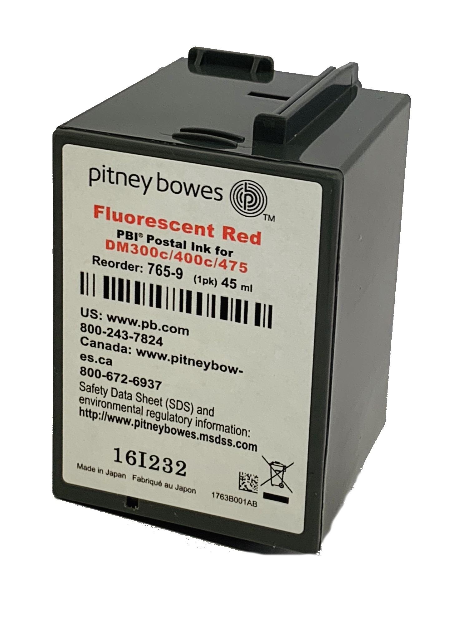 Totalpost/Pitney Bowes DM300c, DM400c rødt blekk