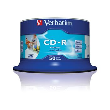 CD-R Wide Print. 52X No ID spindel (50)