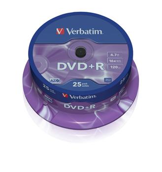 DVD+R 16x 4,7GB spindle (25)