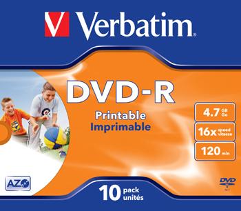 DVD-R 16x 4,7GB Printable (10)