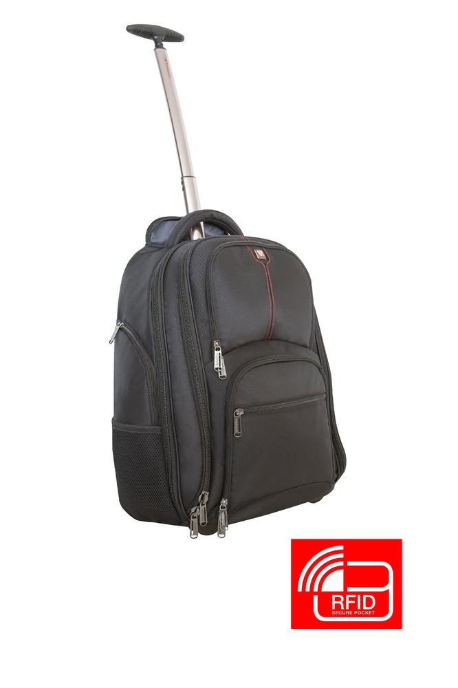 17'' Notebook Backpack Roller Paris w/RFID Secure